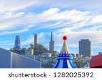 the coit tower  prominent... | Shutterstock . vector #1282025392