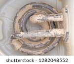 limescale in old kettle  furred ... | Shutterstock . vector #1282048552