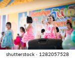 Cute Happy Asian Kids Dancing - Fine Art prints