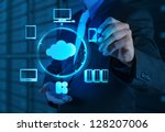 Businessman Working A Cloud Computing - Fine Art prints