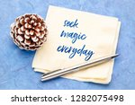 seek magic everyday  ... | Shutterstock . vector #1282075498