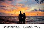 cambodia sun set silhouette | Shutterstock . vector #1282087972