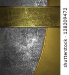 iron background  and gold