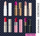 realistic lipstick collection... | Shutterstock .eps vector #1282105612