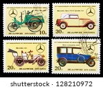 dpr korea   circa 1986  a set... | Shutterstock . vector #128210972