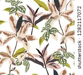 trendy botanical leaves in the... | Shutterstock .eps vector #1282117072