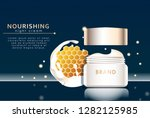 realistic facial cream with... | Shutterstock .eps vector #1282125985