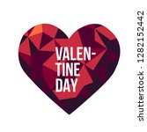 valentine's day card  sale and... | Shutterstock .eps vector #1282152442