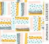 cute semless pattern with... | Shutterstock .eps vector #1282181935