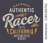 hand drawn vintage race... | Shutterstock .eps vector #1282183762