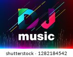 equalizer background. dj music. ... | Shutterstock .eps vector #1282184542