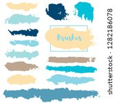brush strokes set backgrounds.... | Shutterstock .eps vector #1282186078