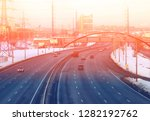 photo background of a road... | Shutterstock . vector #1282192762