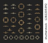 vintage decor elements and... | Shutterstock .eps vector #1282205392