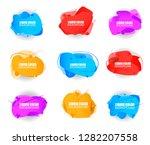 set of plastic liquid gradient... | Shutterstock .eps vector #1282207558