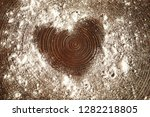 lose up silhouette of a heart... | Shutterstock . vector #1282218805