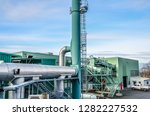top view of biogas power plant. ... | Shutterstock . vector #1282227532