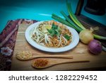 pad thai  noodles fried with... | Shutterstock . vector #1282229452