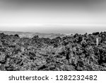 lava deposits on top and valley ... | Shutterstock . vector #1282232482