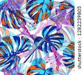 tropical print. seamless... | Shutterstock .eps vector #1282239805