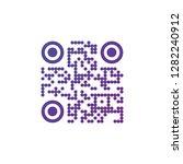 creative qr code sign round... | Shutterstock .eps vector #1282240912