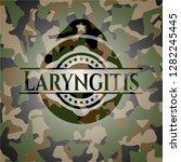 laryngitis on camouflage texture | Shutterstock .eps vector #1282245445