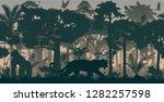 vector african horizontal... | Shutterstock .eps vector #1282257598