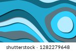 paper art cartoon abstract... | Shutterstock . vector #1282279648