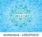 workforce light blue emblem.... | Shutterstock .eps vector #1282291015
