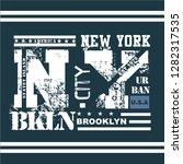 nyc new york city stock vector... | Shutterstock .eps vector #1282317535