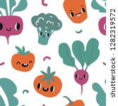 seamless pattern with cartoon... | Shutterstock .eps vector #1282319572