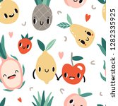 seamless pattern with cartoon... | Shutterstock .eps vector #1282335925