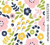 vector trendy seamless floral... | Shutterstock .eps vector #1282352728