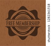 free membership badge with wood ... | Shutterstock .eps vector #1282361518
