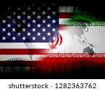 us iran conflict and sanctions... | Shutterstock . vector #1282363762