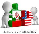 us iran conflict and sanctions... | Shutterstock . vector #1282363825