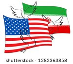 us iran conflict and sanctions... | Shutterstock . vector #1282363858