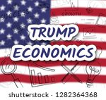 trump economics plan strategy... | Shutterstock . vector #1282364368