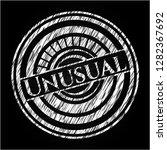 unusual on chalkboard | Shutterstock .eps vector #1282367692