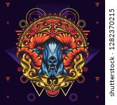 mythology goat sacred geometry... | Shutterstock .eps vector #1282370215