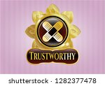 gold emblem or badge with... | Shutterstock .eps vector #1282377478