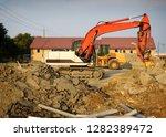 industrial excavator on job...   Shutterstock . vector #1282389472