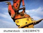 industrial excavator on job...   Shutterstock . vector #1282389475