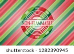 non flammable christmas badge. | Shutterstock .eps vector #1282390945