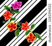 watercolor bouquet of flower...   Shutterstock . vector #1282396522