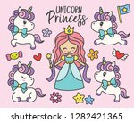 cute little princess and... | Shutterstock .eps vector #1282421365