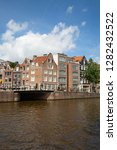 amsterdam   july 10  canals of... | Shutterstock . vector #1282432522