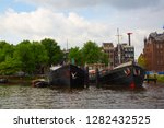 amsterdam   july 10  canals of... | Shutterstock . vector #1282432525