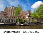 amsterdam   july 10  canals of... | Shutterstock . vector #1282432552