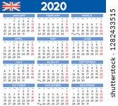 2020 elegant squared calendar...   Shutterstock .eps vector #1282433515